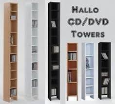 Cd And Dvd Storage Cabinet With Doors Oak Finish Tall Dvd Tower Foter