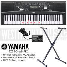 yamaha keyboard lighted keys yamaha ez 220 key lighting keyboard including ac adapter westmount