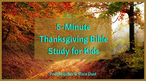 5 minute thanksgiving bible study for