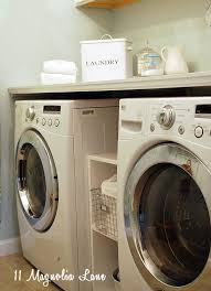 Build Washer Dryer Pedestal Laundry Room Makeover With Diy Laundry Room Folding Shelf 11