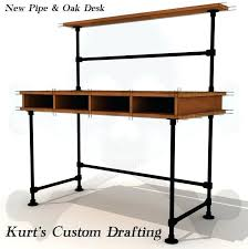diy pipe desk plans diy pipe desk industrial pipe leg desk making a pipe desk l