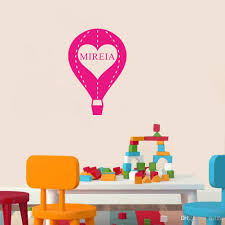 Kids Room Decals by Personalised Any Name Air Balloon Vinyl Wall Stickers Kids