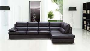 Cheap Black Leather Sectional Sofas Impressive T35 Black Leather Sectional Sofa Sectionals Intended