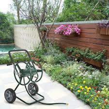 ikayaa 200 feet steel frame garden hose reel cart lovdock com