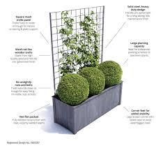 large trough with trellis garden requisites