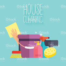 house cleaning poster template for house cleaning services stock