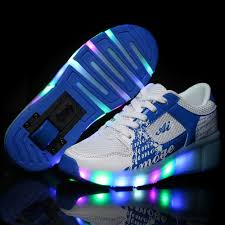 light up roller skate wheels kids shoes with wheels led light up glowing sneakers children roller