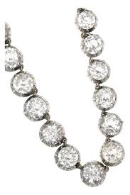 silver rock necklace images Lyst olivia collings 1830s silver rock crystal rivi re necklace jpeg