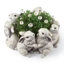 Rabbit Home Decor Bunny Planter For Your Spring Home Decor Sturbridge Yankee Workshop
