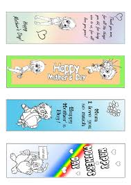 mothers day bookmarks for coloring printable mother s day