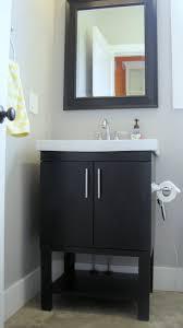 Dark Wood Bath Vanity  Off Dark Wood Vanity Unit Bathroom - Dark wood bathroom cabinets