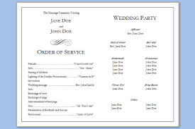 Printable Wedding Programs Free Folded Wedding Program Template U2013 Wedding Programs Templates