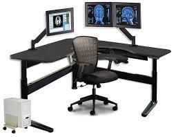 Corner Workstation Desk by Medical Furniture Radiology Desks Kemper Medical Inc