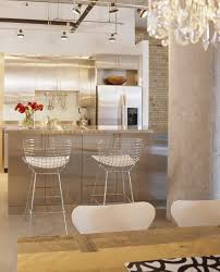 amazing ballard design bar stools with walnut wood white