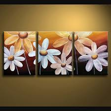 beautiful egg flower painting handmade wall decor bathroom triptych contemporary wall art floral painting egg flower on canvas