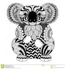 Koala De Zentangle De Dessin Pour La Page De Coloration Leffet De