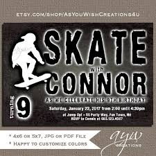 skateboard birthday invitations free printable invitation design