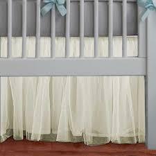 White Ruffle Crib Bedding Adorable Tulle Ivory White Ruffle Crib Skirt In All
