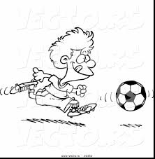 surprising cartoon soccer player coloring pages with soccer ball