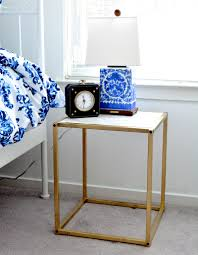 diy gold and faux marble nightstand a thing of beauty