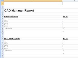report to senior management template spreadsheet template for weekly cad manager reports cadalyst
