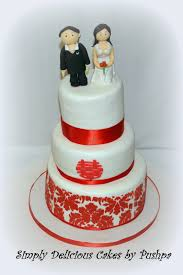 Simply Delicious Cakes Red And White Chinese Wedding Cake