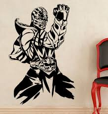 aliexpress com buy scorpion wall sticker mortal kombat game