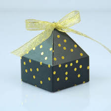 gift box with ribbon 25 pieces lot leiso brand free shipping pyramid candy box dot cake