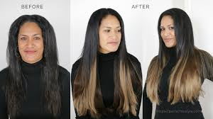 Black To Brown Ombre Hair Extensions by Clip In Hair Extensions Before And After