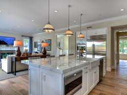 open concept living room kitchen living room contemporary with