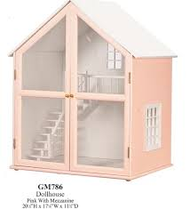 pink dollhouse with mezzanine pre painted kit new in box ebay