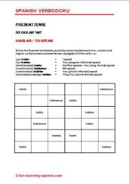 verbodoku spanish verb sudoku puzzles