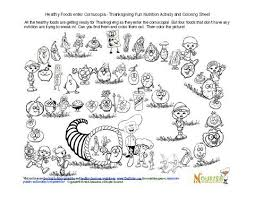 free thanksgiving themed coloring and nutrition activity pages for