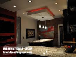 Kitchen Lighting Design Gypsum Board Ceiling Design False Suspended Kitchen Gibson