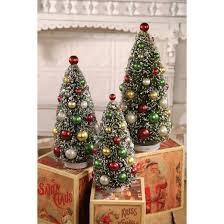 bethany lowe designs 13 bottle brush tree set of 3