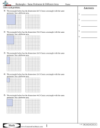 perimeter and area worksheets worksheets