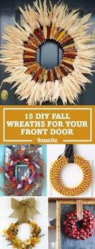 diy wreaths 20 diy fall wreaths easy ideas for autumn wreaths