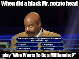 Meme Generator Deal With It - black mr potato head imgflip