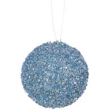 commercial shatterproof matte baby blue ornament 6