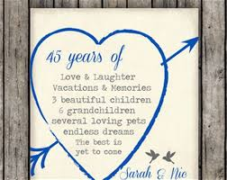45 wedding anniversary 45th wedding anniversary quotes for parents