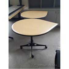 Herman Miller Meeting Table Herman Miller 36 Tear Drop Rolling Meeting Table Allsold