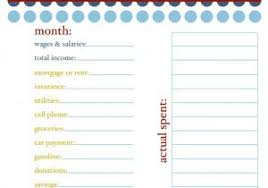 personal budget plan template budget monthly planner budget