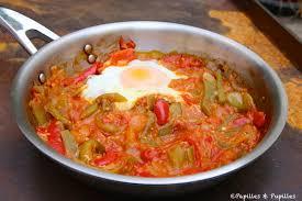cuisiner les poivrons piperade et oeuf au plat