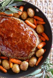 best meatloaf one pan dinner the log home kitchen savoring