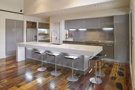 White Kitchen Cabinets With Grey Countertops by White Solid Wooden Countertop Silver Two Door Simple Handle