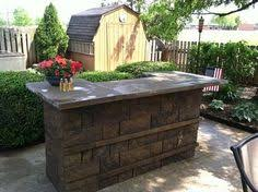 cinder block patio bar janice lininger bar pinterest patio