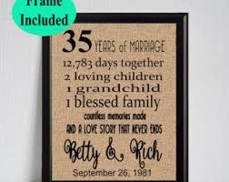 35 wedding anniversary 35th anniversary etsy