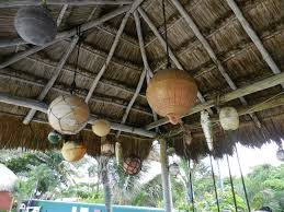 hanging decorations from a palapa vintage decor pinterest