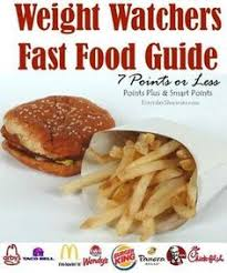 cuisine weight watchers weight watchers fast food guide 7 points or less menu items