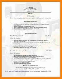 Medical Sample Resume 9 Medical Laboratory Technologist Resume Sample New Hope Stream
